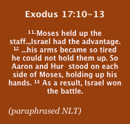 Exodus 17:10-13